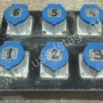 Б/У!Дистрибьютор питания на 6 розеток в металлическом корпусе.