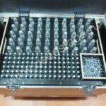 Новый!Кофр на колесах для 200 шт. коннекторов. Фурнитура и профиль ADAM HALL (Germany).