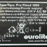 Б/У! Прожектор  Eurolite Pro Flood 1000 (China)