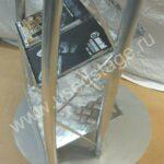 Новый!Выставочный стеллаж из алюминия со съемным основанием.