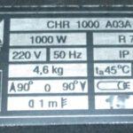 Б/У TECHNOART CHR 1000 A03A (Czech Republic)