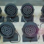 Б/У Комплект 8 шт. LED PAR-64 RGB (China), 36 светодиодов по 10watt.