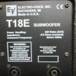Сaбфувер Electro-Voice T-18E (USA) — на колесах.